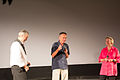 Le président Eric Arnaud, Patrice Leconte, et La maraine du festival Nicole Trabaud.jpg