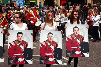 Murder of Lee Rigby - Image: Lee Rigby Manchester tribute