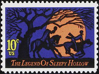 The Sketch Book of Geoffrey Crayon, Gent. - Image: Legend of Sleepy Hollow U.S. Stamp