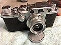 Leica IIIc mod f. Rangefinder alignment (33236144345).jpg
