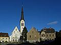 Leoben-Waasen - Pfarrkirche Maria am Waasen und Pfarrhof.jpg