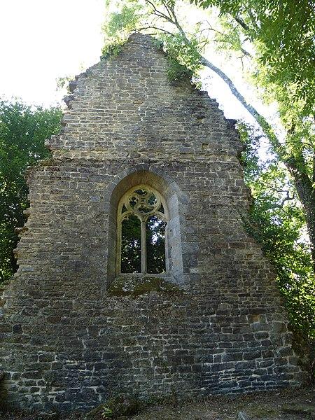 Les ruines de l'ancienne chapelle