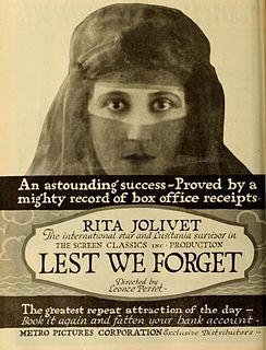 <i>Lest We Forget</i> (1918 film) 1918 film by Léonce Perret