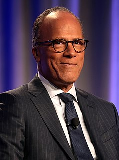 Lester Holt American journalist