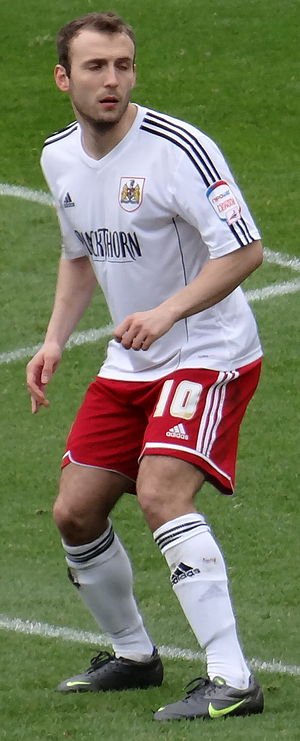 Liam Kelly (footballer, born 1990) - Kelly playing for Bristol City in 2013