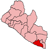 Location of Grand Kru County in Liberia