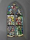 linden (cuijk) sint lambertuskerk glasraam christophorus + profeet jonas