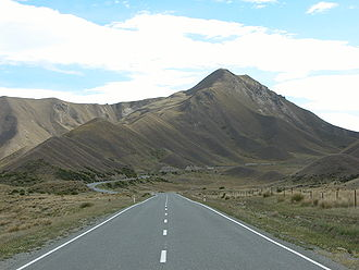State Highway 8 Richtung Lindis Pass