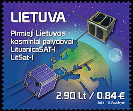 Lithuania satellites stamp 2014.jpg