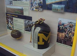 1903 Minnesota Golden Gophers football team - Replica of the Little Brown Jug on display in Ann Arbor, Michigan in 2007. The real Jug is kept in storage.