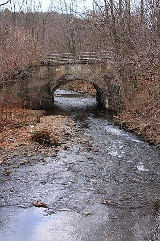 Little Mahanoy Creek - Little Mahanoy Creek looking downstream in its lower reaches in Gordon