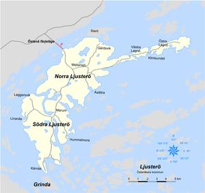ljusterö karta Ljusterö – Wikipedia ljusterö karta