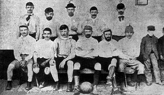 Lobos Athletic Club - The first football team, 1892.