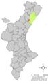 Localització de Sant Joan de Moró respecte del País Valencià.png