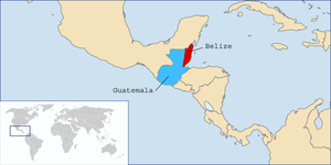 British Honduras - Belize and Guatemala