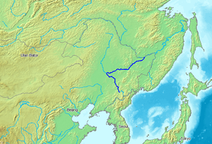 Songhua River - Image: Location Songhua