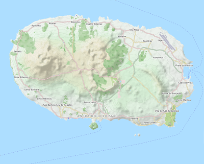 where are the azores on the map