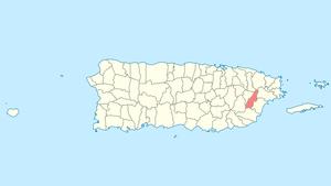 Las Piedras, Puerto Rico - Image: Locator map Puerto Rico Las Piedras