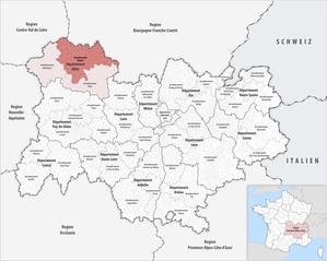Arrondissement of Moulins - Image: Locator map of Arrondissement Moulins 2017