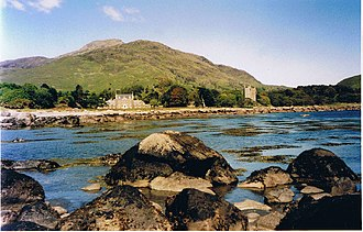 Lochbuie, Mull - Image: Lochbuie House and Moy Castle