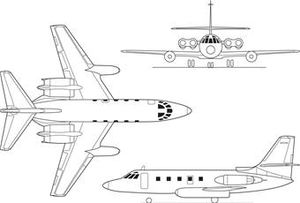 Lockheed Jetstar 3-view