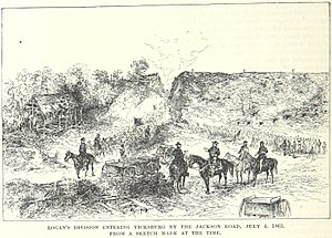 Siege of Vicksburg - Troops of John A. Logan's division enter Vicksburg on July 4