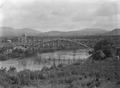 Longest single span wooden bridge in New Zealand, carrying the Taupo Totara Timber Company line over the Waikato River at Ongaroto ATLIB 293146.png