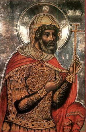 Longinus - Longinus the Centurion. Russian icon by Fyodor Zubov, 1680.