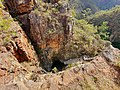 Looking over the first falls at Morialta falls in Adelaide.jpg