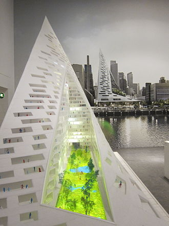 Bjarke Ingels Group - West 57 on display in Louisiana Museum of Modern Art
