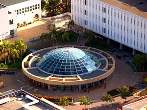 Malcolm A. Love Library - Aerial view of the Library dome