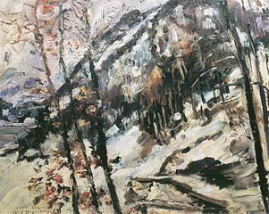 Der Herzogstand am Walchensee im Schnee