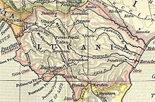 Map of ancient Lucania
