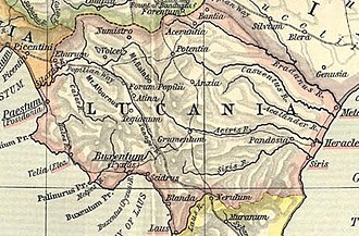 Lucania - Map of ancient Lucania