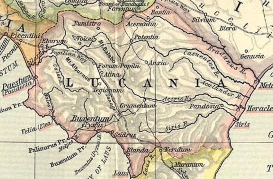 Lucania map