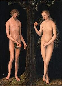 Adam und eva schlange