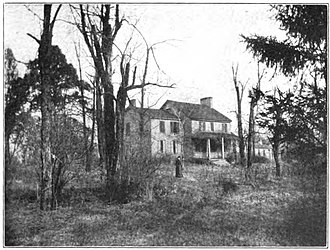 Jared Mansfield - Mansfield's Ludlow Station home, demolished 1891