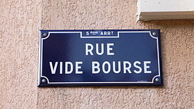Image illustrative de l'article Rue Vide-Bourse