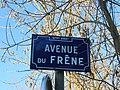 Lyon 9e - Avenue du Frêne - Plaque (fév 2019).jpg