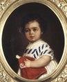 Målning, porträtt av Elma von Hallwyl (1870-1871) - Hallwylska museet - 38930.tif