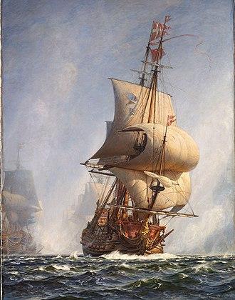 Christian Mølsted - Image: Mølsted Gennembruddet under Slaget paa Køge Bugt 1ste Juli 1677