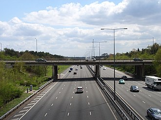 M40 motorway - M40 at Burtley Wood, Buckinghamshire