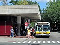 MBTA route 90 bus at Davis station, August 2015.JPG