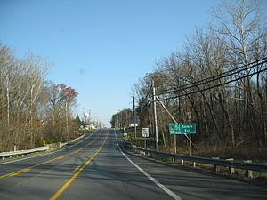 Maryland Route 170 - MD 170 northbound at crossing of Severn Run