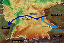 Location of MEGAL pipeline