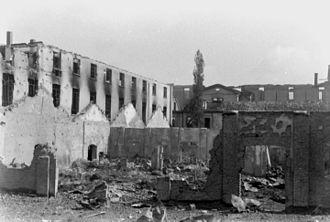 Bombing of Milan in World War II - Destroyed factories in Milan.