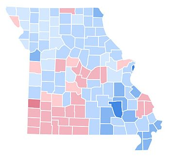 United States Presidential Election In Missouri Wikipedia - 1992 election us map