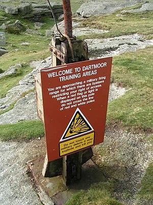 Dartmoor Training Area - Image: MOD Danger Area Flagpole geograph.org.uk 224679
