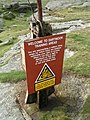 MOD Danger Area Flagpole - geograph.org.uk - 224679.jpg
