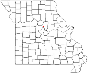 Location of Huntsdale, Missouri